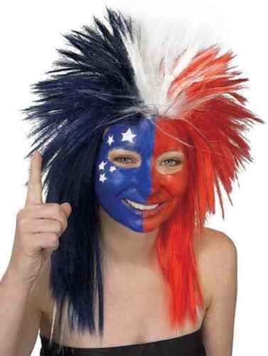 Sports Fanatic Wig Spike Fan School Spirit Halloween Costume Accessory 13 COLORS