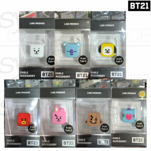 BTS BT21 Official Authentic Goods Cable Protection Cap By S2B + Tracking Number