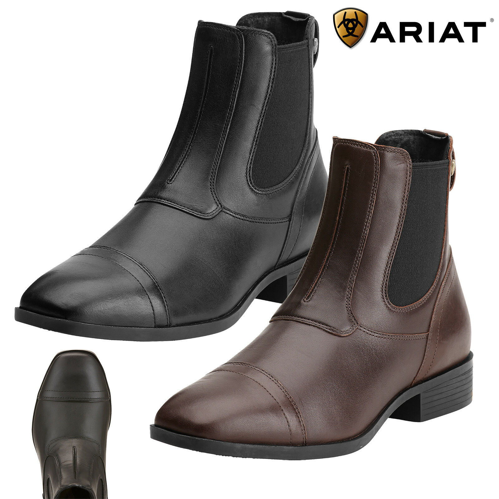 Ariat Challenge Square Toe Kleid Paddock Stiefel SALE FREE UK Shipping