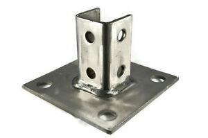 Image Is Loading 316 Stainless Steel P2072asq Strut Post Base Square