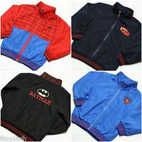 Kids Boys Girls Spiderman Superman Batman jacket Coat  size 18M-2y to 5 6 years