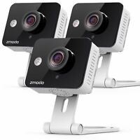 3-Pack Zmodo 3 720P Wireless WiFi IP Home Security Camera Two Way Audio Night Vision