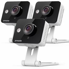 Zmodo 3 Wireless Smart IP WiFi HD IR Cut Home Security Camera 720P Two Way Audio