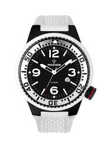 POSEIDON-Herren-Armbanduhr-XL-Black-Pro-Analog-Silikon-UP00256-Weiss-UVP-139