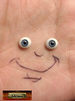 M00955 Morezmore Bjd Glass Eyes 6 Mm Blue Oval Flat Back Small Doll Baby T20
