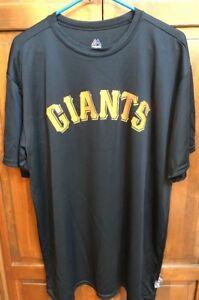 94b53f204ae Majestic San Francisco Giants Warm Up Jersey Cool Base Black Men s ...