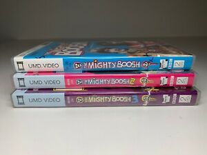 Bundle-Job-Lot-x3-Sony-PSP-UMD-Video-Boxed-THE-MIGHTY-BOOSH-SERIES-1-2-3