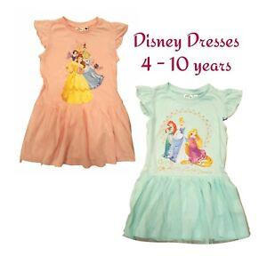 Girls-DISNEY-PRINCESS-Party-Summer-Lightweight-Dress-Kids