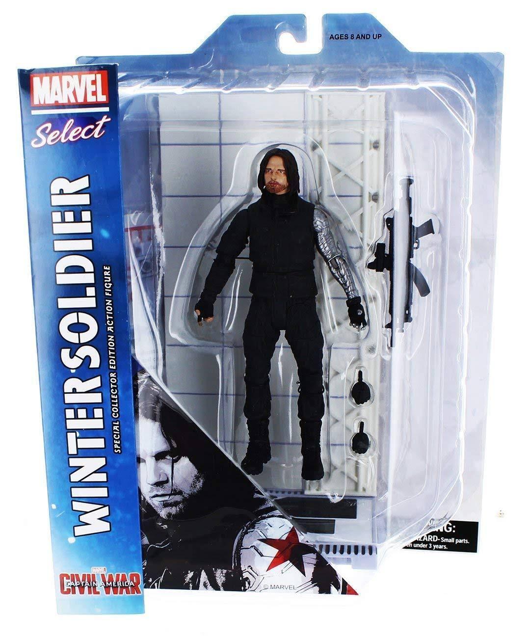 Marvel Select Captain America Civil War WINTER SOLDIER Diamond Diamond Diamond Select Avengers 22eaf0