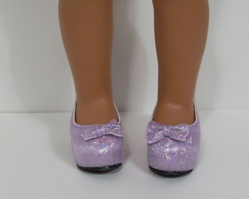 "Debs LAVENDER Sparkle High Hi Heels Doll Shoes For 14/"" AG Wellie Wisher Wishers"