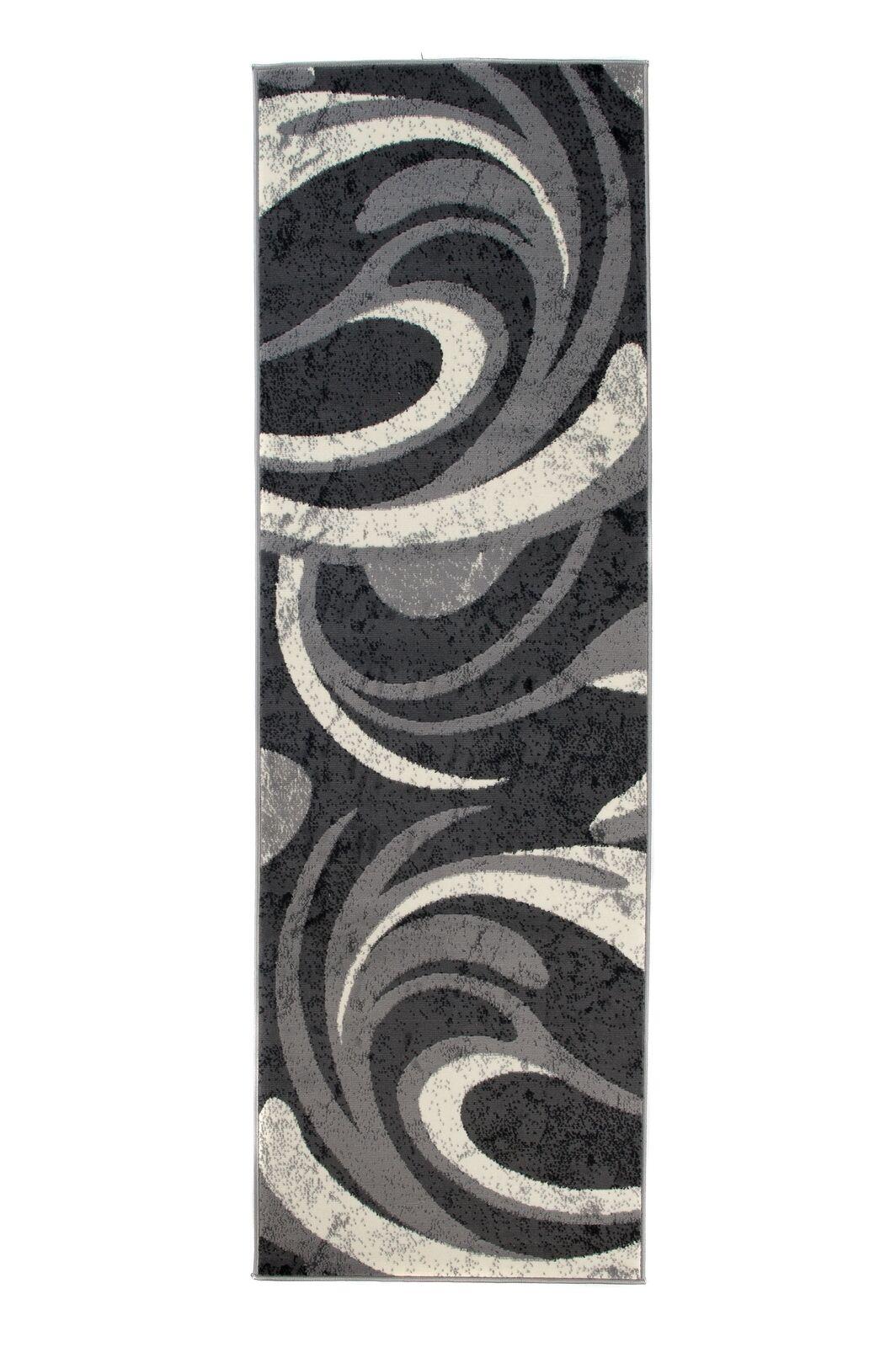 Läufer Läufer Läufer Teppich Grau Küche Flur Kurzflor Modern 70x200 80x200 100x300 + | Rich-pünktliche Lieferung  ccfea8