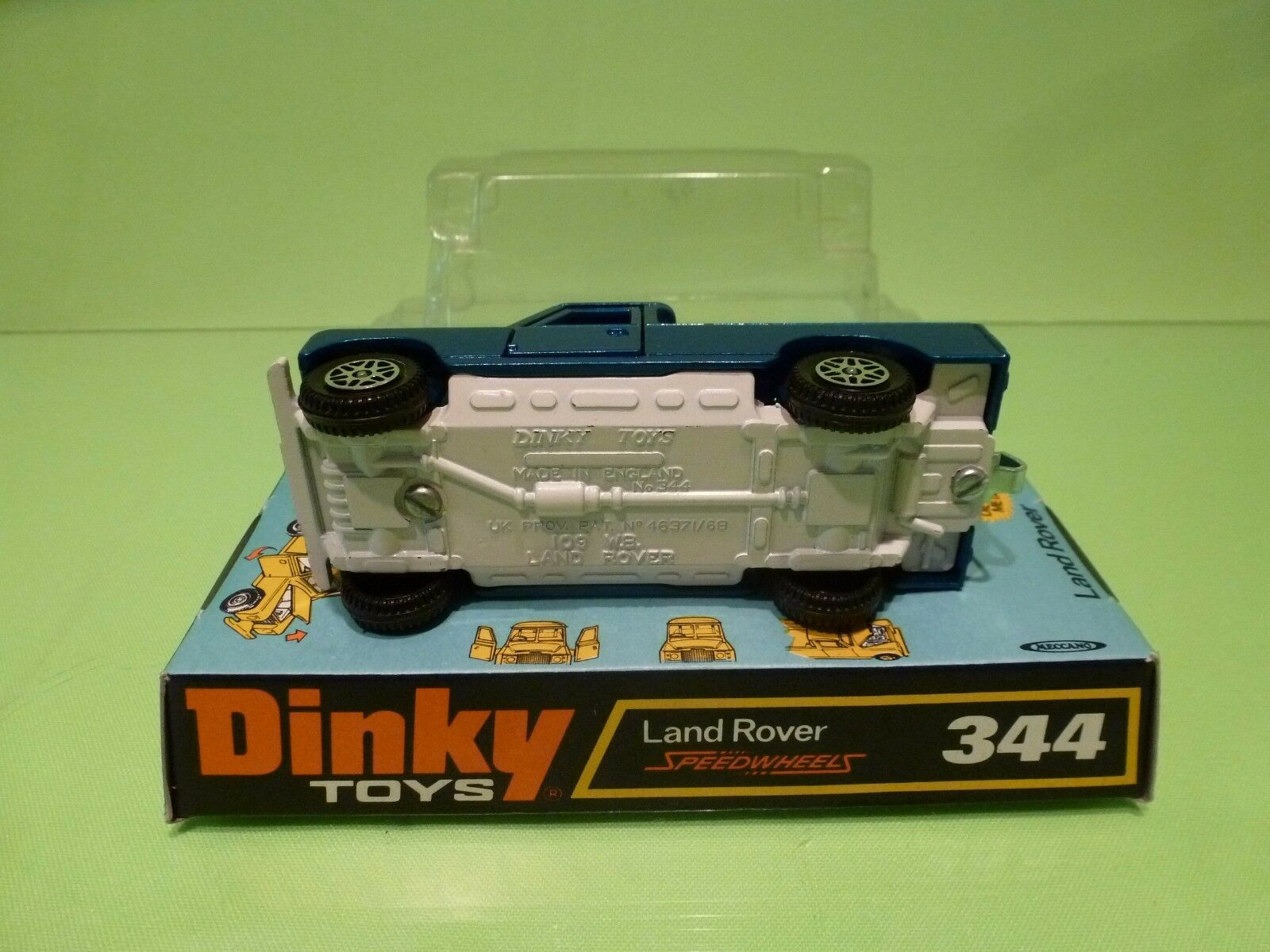 DINKY DINKY DINKY TOYS SPEEDWHEELS 344 LAND ROVER - blueE - EXCELLENT CONDITION IN BOX 06bef9