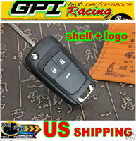 Flip Key Shell Fit For Chevrolet Remote Key Case Replacement 3 Buttons