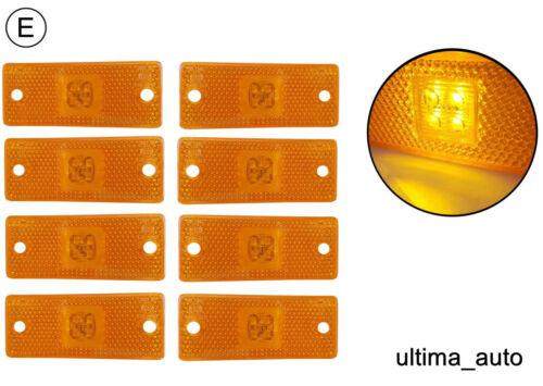 8 Stück 24V 12v Orange Bernstein Led Seitenmarkierungsleuchten Licht