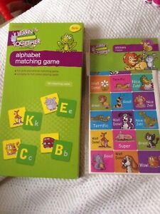 Apprendre Ensemble Alphabet Assorties Game & Pack De 3 Feuilles De Récompense Autocollants. Entièrement Neuf Sous Emballage-afficher Le Titre D'origine