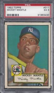 1952-Topps-Mickey-Mantle-311-PSA-5-Must-See