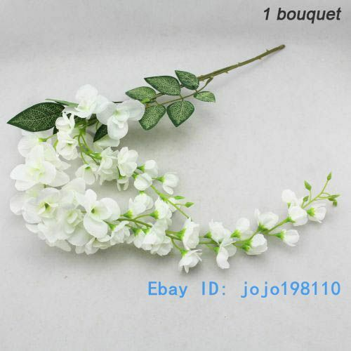1 PCS Artificial Wisteria Silk Flower Home Wedding Party Decoration NO VASE F107