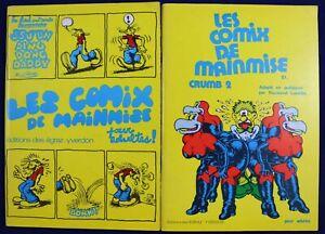 COMIX-DE-MAINMISE-Les-1-et-2-Robert-CRUMB-Ed-des-EGRAZ-YVERDON-1974