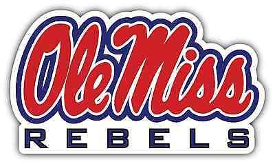 "Ole Miss Rebels Mississippi NCAA Vinyl Car Bumper Window Sticker Decal 5/""X4/"""