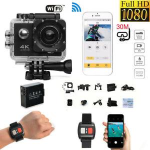 Экшн камера SJ9000 WiFi 4K Full HD Sport видеокамера водонепроницаемый Dvr с пультом