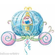 "33"" Disney Princess Cinderella Crystal Pumpkin Carriage Foil Supershape Balloon"
