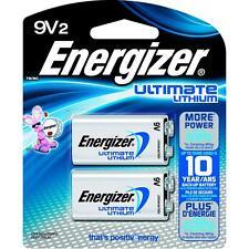 Energizer Ultimate Lithium Batteries 9V 2 Pack Exp. 2026 (L522BP-2)