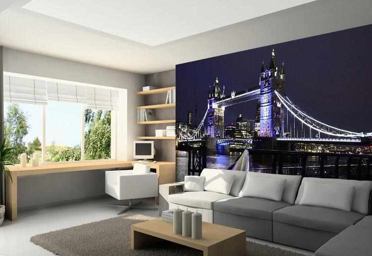 3D London Bridge 74 Wall Paper Murals Wall Print Wall Wallpaper Mural AU Summer
