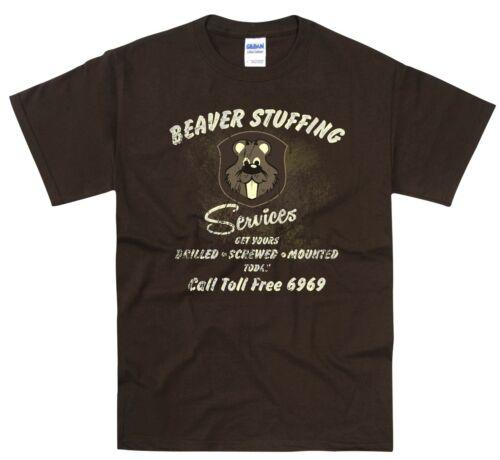 Funny T Shirt Beaver Shop Truck Door Art Garage Mechanic Classic RatRod Gift