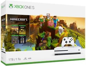 Xbox-One-S-1TB-Console-Minecraft-Creators-Bundle-Brand-New