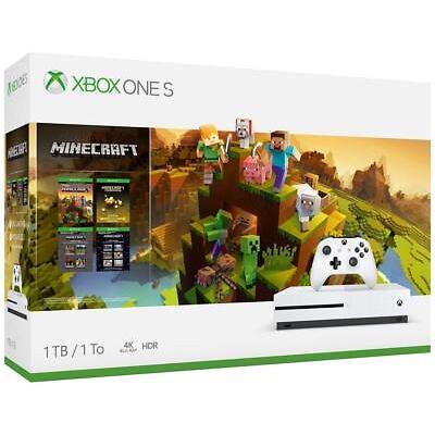 Xbox One S 1TB Console - Minecraft Creators Bundle Brand New