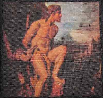 Printed Patch Sew On Gustav Moreau 1826-1898 HERCULES and the HYDRA