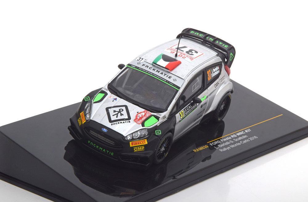 FORD FIESTA RS WRC  37 BERTELLI SCATTOLIN RALLY MONTE CARLO 2016 IXO RAM630 1 43