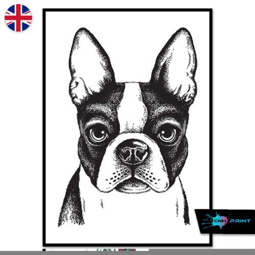 French Bulldog Poster Print A4 A3 Wall Art Decor Animals Fashion Art 1419