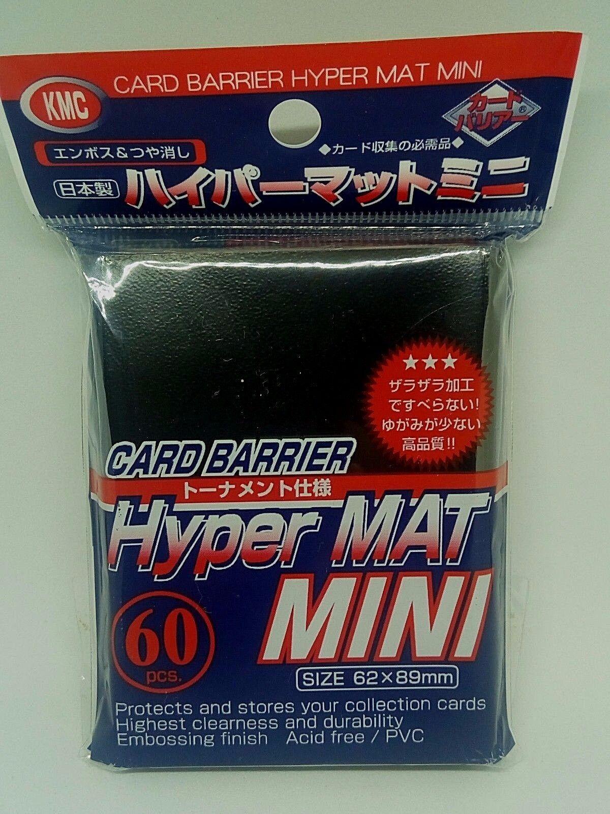 x10 KMC CARD BARRIER Hyper Matte Mini SLEEVES Clear for Yu-gi-oh etc 89x62mm