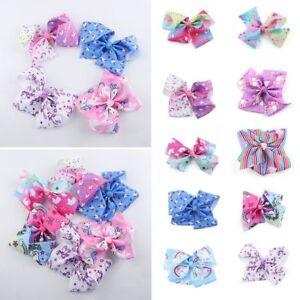 New-JOJO-Bows-Hairpin-Large-Unicorn-Bowknot-Headwear-8-Inch-Baby-Hair-Barrette