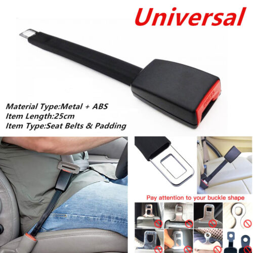 Car SUV Seat Belt Extender Extension Length Strength Nylon Safety Buckle Clip
