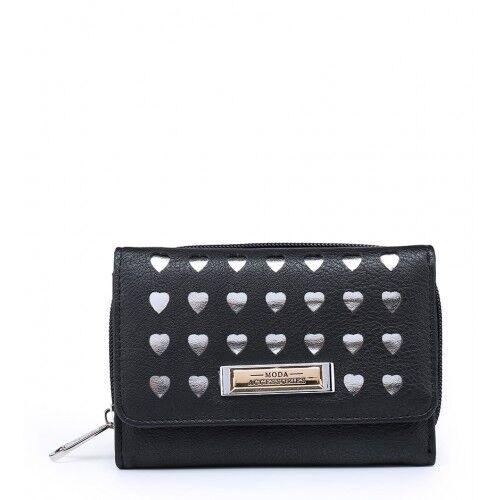 Ladies Designer Laser Cut Hearts Purse Girls Fashion Coin Handbag Boxed M095-360
