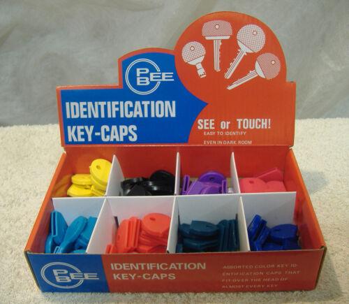 LOT OF 100 PIECE COLORED KEY CAP IDENTIFIER DISPLAY KIT