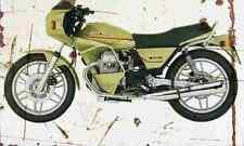 MotoGuzzi V65SP 1984 Aged Vintage Photo Print A4 Retro poster