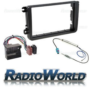 VW-Golf-MK5-MKV-Double-Din-Stereo-Fitting-Kit-Facia-Wiring-Adaptor-Fascia-Panel