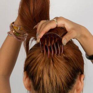 barrette queue de cheval cheveux claw coiffure chignon une épingle à cheveux.