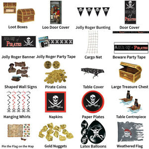 Pirate Theme Decorations Partyware Complete Selection Ebay