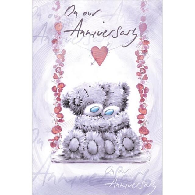 Girlfriend Boyfriend Birthday Greetings Card Love Hearts Tatty Teddy Me to You