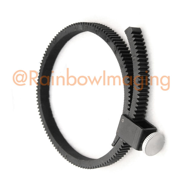 Flexible Adjustable Lens Gear Ring Belt for DSLR Lens Follow focus 15mm Rig