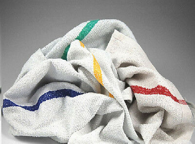 10LB BOX OF TERRY STRIPED BAR MOP TOWELS WIPING RAGS CLEANING CLOTHS NEW