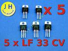 Stk.5x LF33CV Spannungsstabilisator 3,3V /Voltage stabiliser  3.3V - 500mA #A160