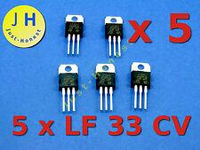 Stk.5x lf33cv Stabilizzatore di tensione 3,3v/voltage stabiliser 3.3v - 500ma #a160