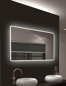 Details zu LED Badspiegel mit Beleuchtung TALOS 120x70 Spiegel Bad  Wandspiegel Badezimmer