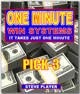 Details about Steve Player's One Minute Win Pick-3 Lottery System