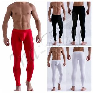37f7119a311ca Sexy Men Smooth Low Rise Bulge Pouch Long Johns Thermal Pants ...